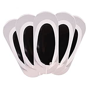 Women's 5 Pairs Pack Low cut/No-show Causal Socks,5 White