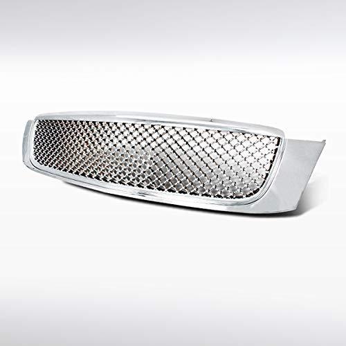 Autozensation For Cadillac DeVille Front Bumper Chrome Hood Mesh Honeycomb Grille
