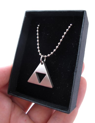 Zelda Triforce Matte Necklace - Stainless Steel by Milkool (Image #5)'