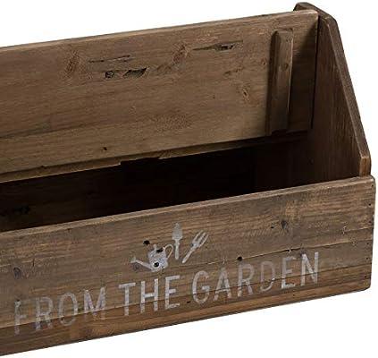 Home Works - Caja de Herramientas para jardín de Madera rústica: Amazon.es: Jardín