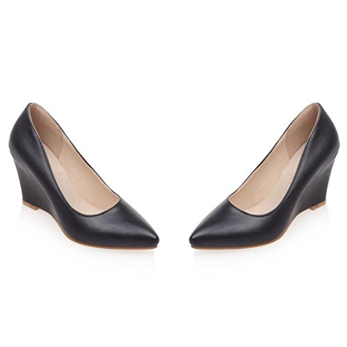 Talons Classique RAZAMAZA Black Compensés Pour Escarpins Chaussures Mode Femmes 57pwX7