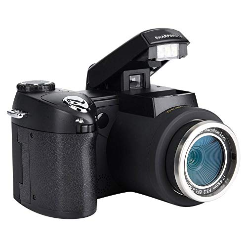 Taidda DSLR Digital Camera, HD Camcorder Camera Auto Focusing with LCD Display Wide Angle Lens And 24X Telephoto Lens…