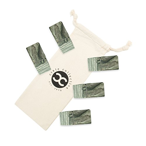 Exotic Pakka Wood Bag Clips Set of 5 - Earth Friendly Material - by Crate Collective (Beechnut) by Crate Collective (Image #4)