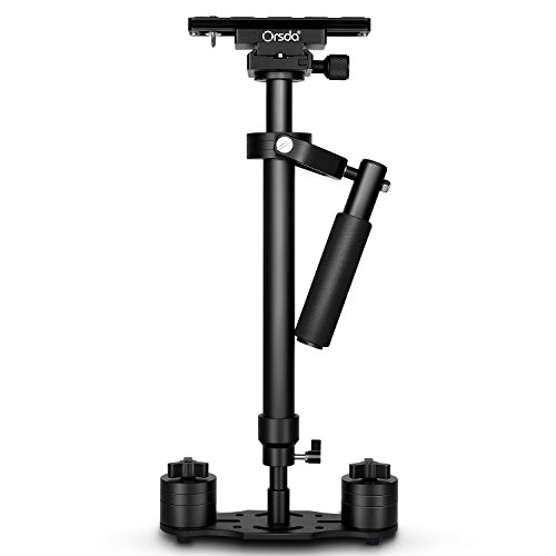 Orsda S60 Aluminium Alloy 23.6inch/60CM Handheld Stabilizer with 1/4 3/8 inch Screw Quick Shoe Plate for Canon Nikon Sony and Other DSLR Camera Video DV up to 5.5 pounds/2.5 kilograms OR211