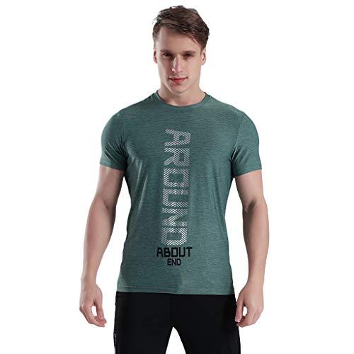 Running T Shirt Men Donci Elastic Skinny Sweat Absorbent Essentials Tees