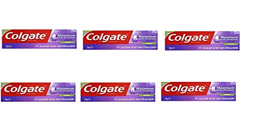 Colgate Maximum Cavity Protection, Remineraliztion, with Sugar Acid Neutralizer (European Import) - 6 COUNT (Best Toothpaste For Acid Erosion)
