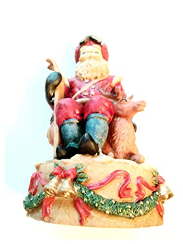 Up Santa Musical Figurine Wind - Windsor Musical Santa Figurine