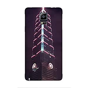 Cover It Up - The Red Neon Tower Galaxy note Edge Hard Case