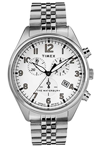 (Timex Mens Chronograph Quartz Watch with Stainless Steel Strap TW2R88500)