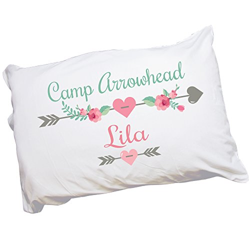 Girl's Personalized Camp Pillowcase (Girls Sleeping Bags Personalized)