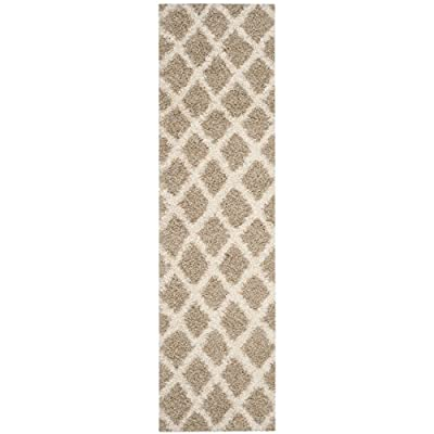 Safavieh Dallas Shag Collection SGDS258A Dark Grey and Ivory Runner -  - runner-rugs, entryway-furniture-decor, entryway-laundry-room - 41UzpVRpmSL. SS400  -