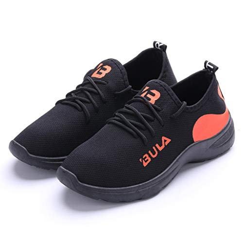 (Braloneesc Running Shoes Ladies Air Gymnastics Strings Lightweight Breathable Sneakers Fashion Sports Outdoor Athletic Orange)