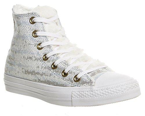Converse Star Prem Hi Warhol, Sneakers Stringate Uomo Polar Blue Ash Grey Knit