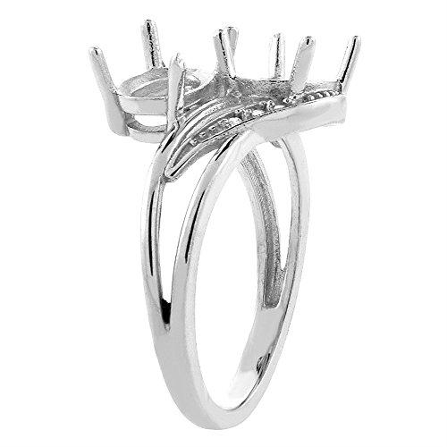 10K White Gold Diamond Natural Peridot & Aquamarine 2 stone Ring Oval 8x6mm, sizes 5 10
