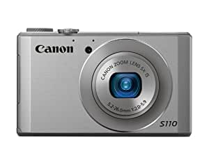 Canon PowerShot S110 12MP Digital Camera with 3-Inch LCD (Silver)