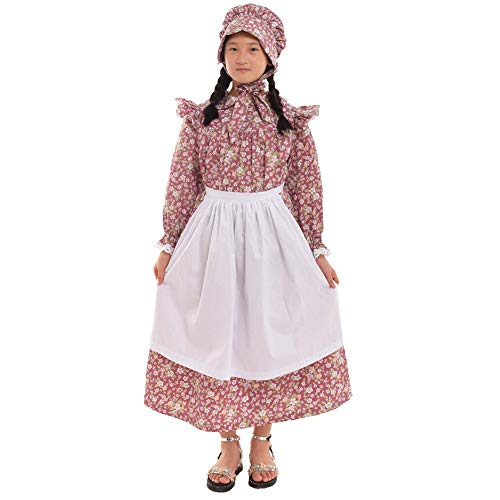 GRACEART Girls' American Pioneer Colonial Costume Prairie Dress