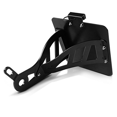 Support de plaque lat/éral Yamaha XVS 650 Drag Star 96-03 Craftride noir