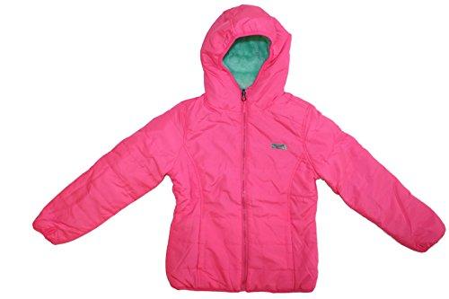 Fleece Monkey Jacket - 32 DEGREES Weatherproof Girls' Big Monkey Fleece System Jacket, Reversible Fuchsia/Mint A A, 10/12
