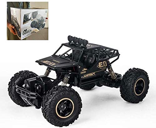 LBLA 2019 Edition Off-Road Rock Crawler Monster Truck Remote Control 1:16  Scale Alloy Body RC Car with Rechargeable Battery