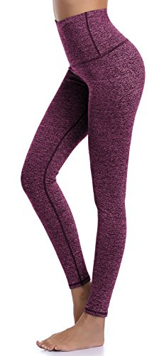 Roll Waist Yoga Pant (Aenlley Women's High Waist Yoga Pants Tummy Control Workout Training Tight Legging Color Hotpink Size L)