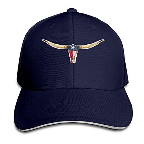 EDGG Texas TX Longhorn Lone Star State Flag Unisex Baseball Cap Golf Hats Plain Cap (8+ Colors) Navy