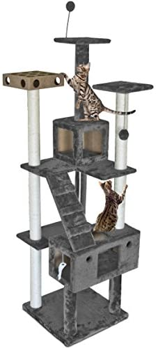 Furhaven Pet – Tiger Tough Tall Cat Tree Entertainment Playground Furniture for Cats & Kittens – Multiple Styles & Colors