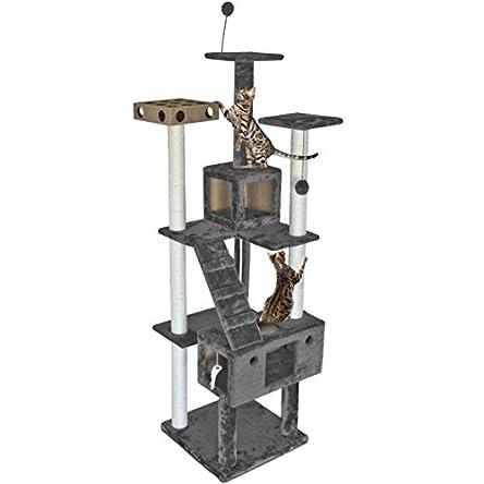 Furhaven Pet – Tiger Tough Tall Cat Tree Entertainment...