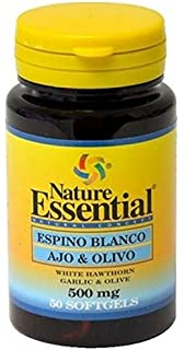 Espino blanco + ajo + olivo 500 mg. 50 perlas
