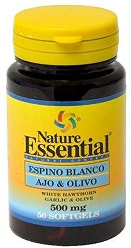Espino blanco + ajo + olivo 500 mg. 50 perlas: Amazon.es: Salud y cuidado personal