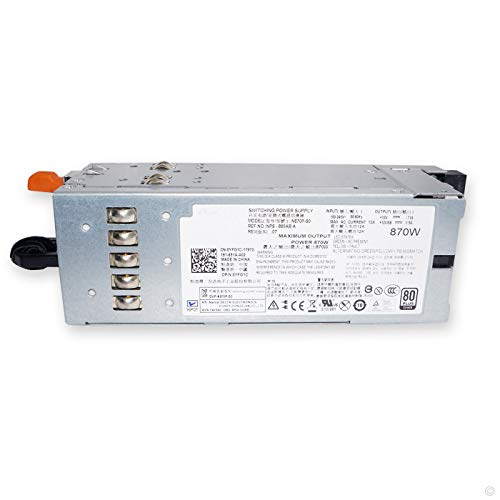 POINWER YFG1C 870W Server Power Supply for Dell PowerEdge R710 T610 for Dell PowerVault NX3000 DL2100 Compatible Part Number 3257W D263K 7NVX8 VT6G4 PT164 N870P-S0 NPS-885AB A870P-00