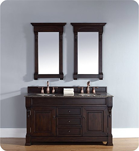 James Martin Furniture Double Cabinet Vanity, 60-Inch, Burnished Mahogany (60 Vanity Cabinet)