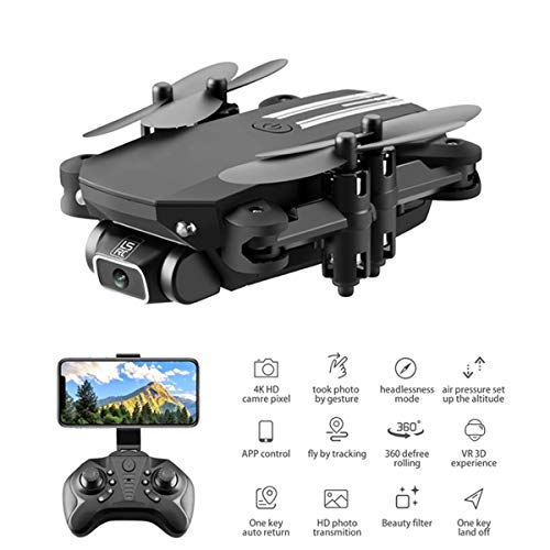 LNLJ Wifi FPV 4K HD Camera Drone, Foldable Drone RC Quadcopter with Altitude Hold, Gravity Control, Gesture Sensing, Toy…