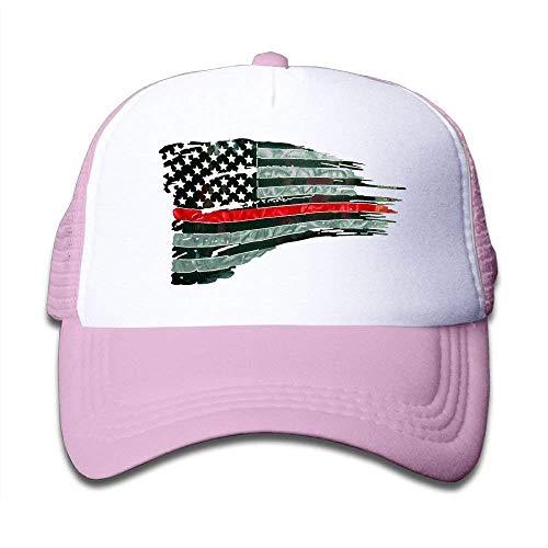mesielldp Novelty Baseball Caps Hats Kid's Cap Firefighter Red Line Flag Mesh Hat Dad Caps Baseball Cap Outdoor Cap Trucker Cap for Unisex -