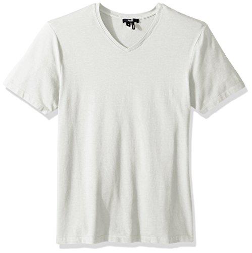 - PAIGE Men's Grayson Tech Jersey V Neck Tee, Optic White, S