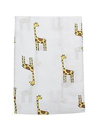 Luyusbaby Infant Multi-use Muslin Bath Towel Baby Swaddle Blanket