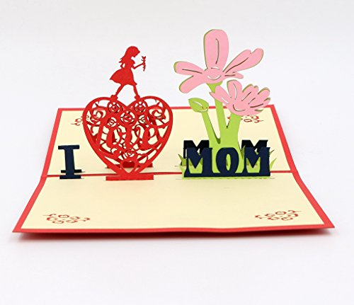 Isharecards handmade 3d pop up mother 39 s day greeting cards for Pop up birthday cards for mom