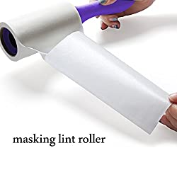 OGI Professional Masking Lint Roller with Giant Adhesive, Extra Sticky Lint Remover, 60 Sheets, Pack of 5