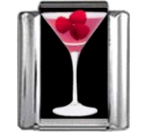 - Stylysh Charms Cocktail Raspberry Ride Martini Photo Italian 9mm Link NC147