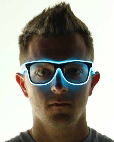 Electric Styles Light Up El Wire Glasses (Aqua) -