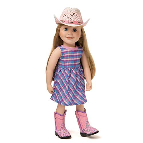 Clothes Boots Western (Maplelea Riding Mountain Plaid Dress Outfit with Cowboy Hat and Western Boots for 18 Inch Dolls)
