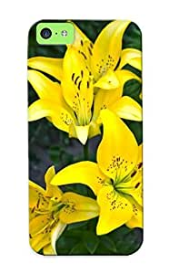 First-class Case Cover Series For Iphone 5c Dual Protection Cover Yellow Lilies Johlcx-5896-cbwjqex