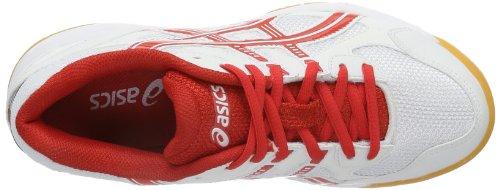 Asics GEL-DOHA GS C206Y Unisex-Erwachsene SchnÃ1/4rhalbschuhe Weiß (Weiß / Rot)