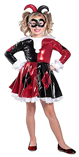 Princess Paradise Harley Quinn Premium Child Dress Costume, Red/Black/White, -