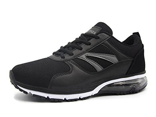 Running Sneaker Laufschuhe Schwarz Luftkissen Sportschuhe Straßenlaufschuhe Bequeme Knixmax Damen Turnschuhe Leichte Laufschuhe cXIg4q