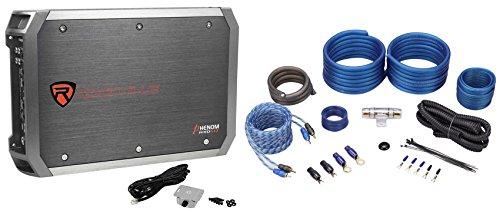 New Rockville RXD-M2 3000 Watt/1500w RMS Mono 1-Ohm Car Amplifier+Amp Wire Kit ()