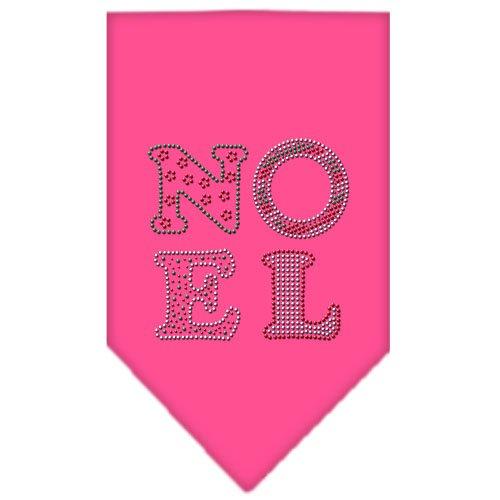 Mirage Pet Products 67-92 SMBPK Noel Rhinestone Bright Pink Print Bandana, Small