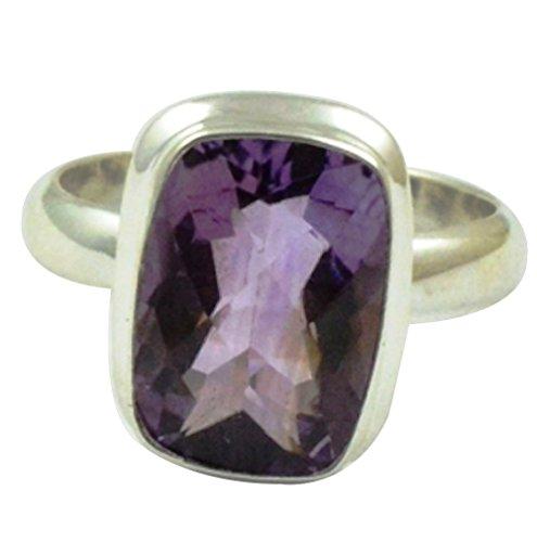 - Lovegem Genuine Amethyst Ring 925 Sterling Silver,Size :6.75, AR3048