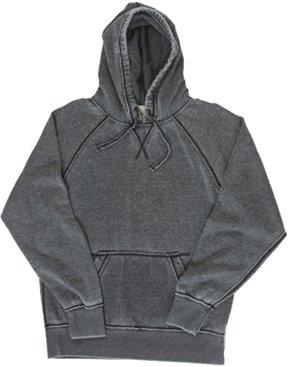 J America Vintage Distressed Pullover Hooded Sweatshirt- Dark Smoke Gray