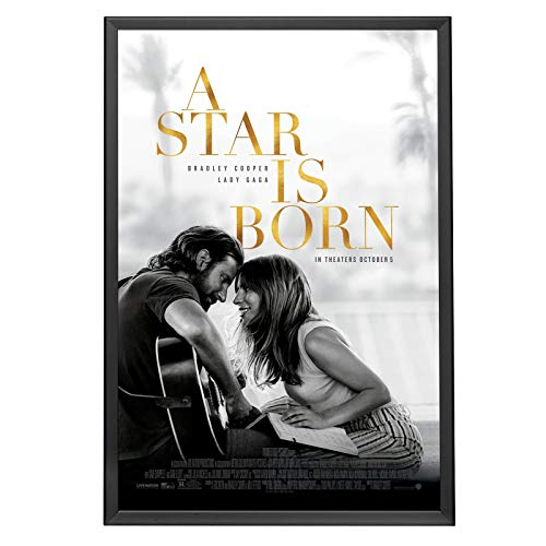 SnapeZo Movie Poster Frame 24x36 Inches, Black 1.25 Aluminum Profile, Front-Loading Snap Frame, Wall Mounting, Professional Series