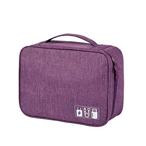 Electronic Organizer Travel Universal Cable Organizer Cable Cord Bag Electronics Accessories Cases Storage Bag…